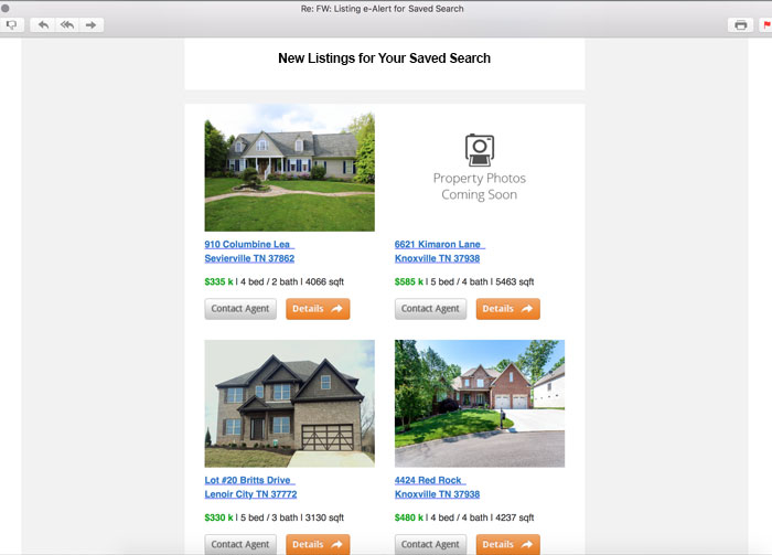 IDX Real Estate websites with listing alerts